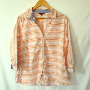 Zac and Rachel long sleeved collared button up top